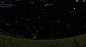 Sky view of C/2013 US10 Catalina at 7:00am 01/01/2016